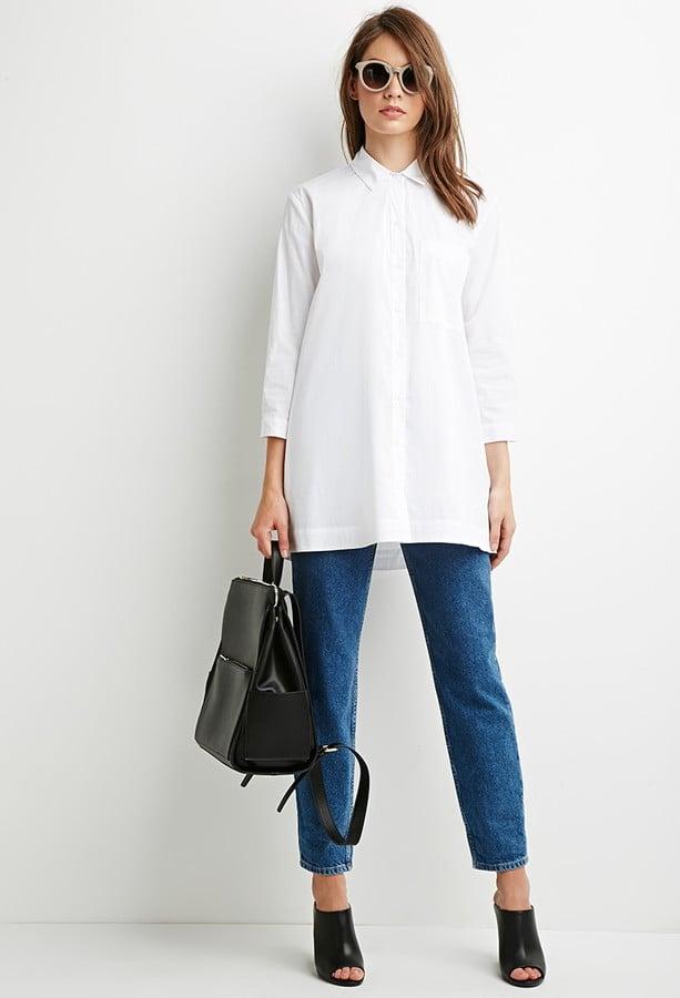 Forever 21 Oversized Longline Shirt ($20)