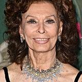 Sophia Loren at The Green Carpet Fashion Awards 2019