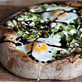 Asparagus, Goat Cheese, and Pea Shoot Pizza
