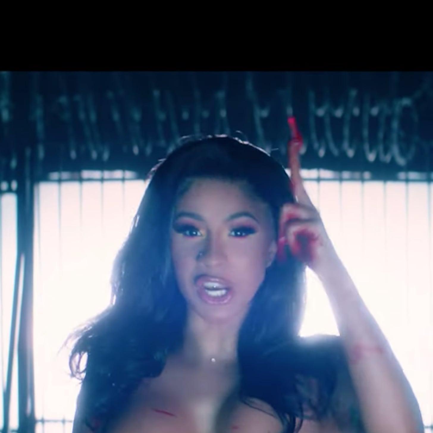 Cardi B S White Eyebrows And Hair Cardi B Press Music Video