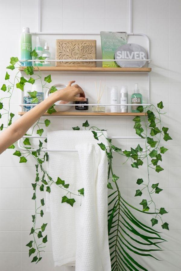 Over The Door Tiered Storage Rack Best Bathroom Organizers