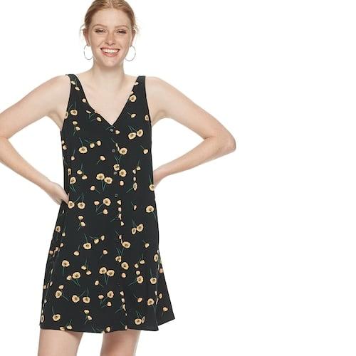 POPSUGAR Button-Front Dress