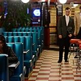 Tatiana Maslany as Sarah and Ari Millen as Mark.  Source: BBC