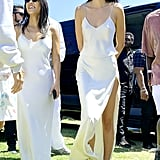 Kourtney Kardashian and Kendall Jenner at Kanye West's Easter Coachella Service
