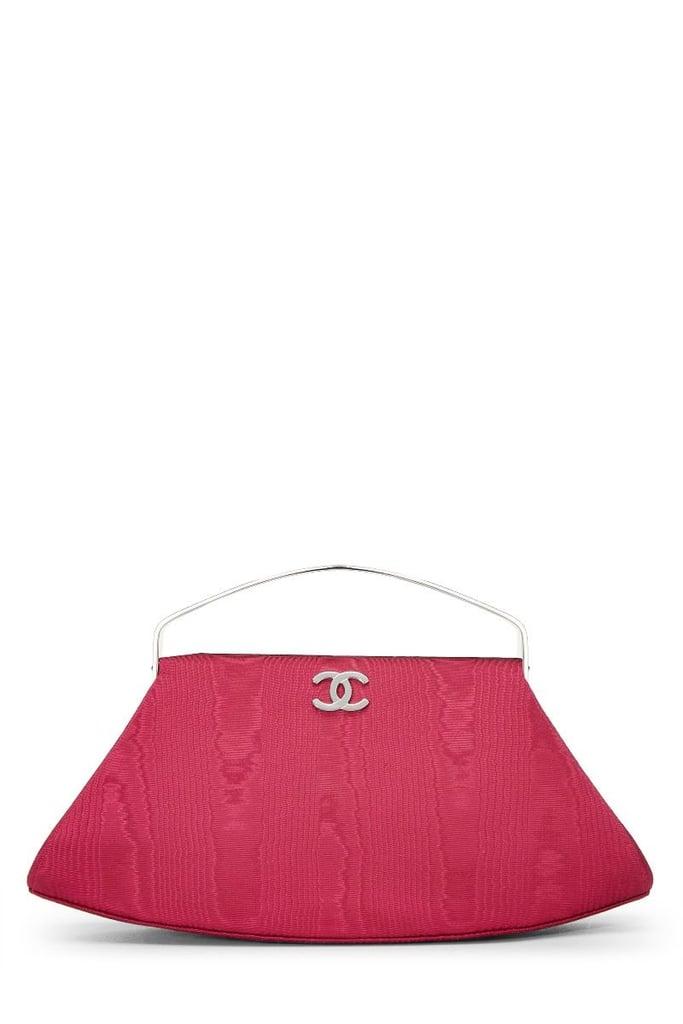 Chanel Fuchsia Satin Frame Handbag