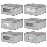 mDesign Soft Stackable Fabric Closet Storage Organisers