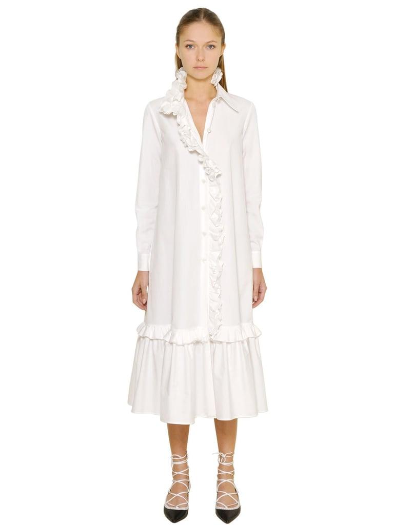 Rossella Jardini Silk Ruffles & Japanese Cotton Dress ($779)