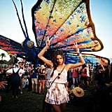Alessandra Ambrosio Carried a Butterfly on Her Shoulder