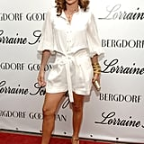 Chic in white separates for an event in 2007.