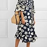 APIECE APART Beja ruffled floral-print linen and cotton-blend wrap dress