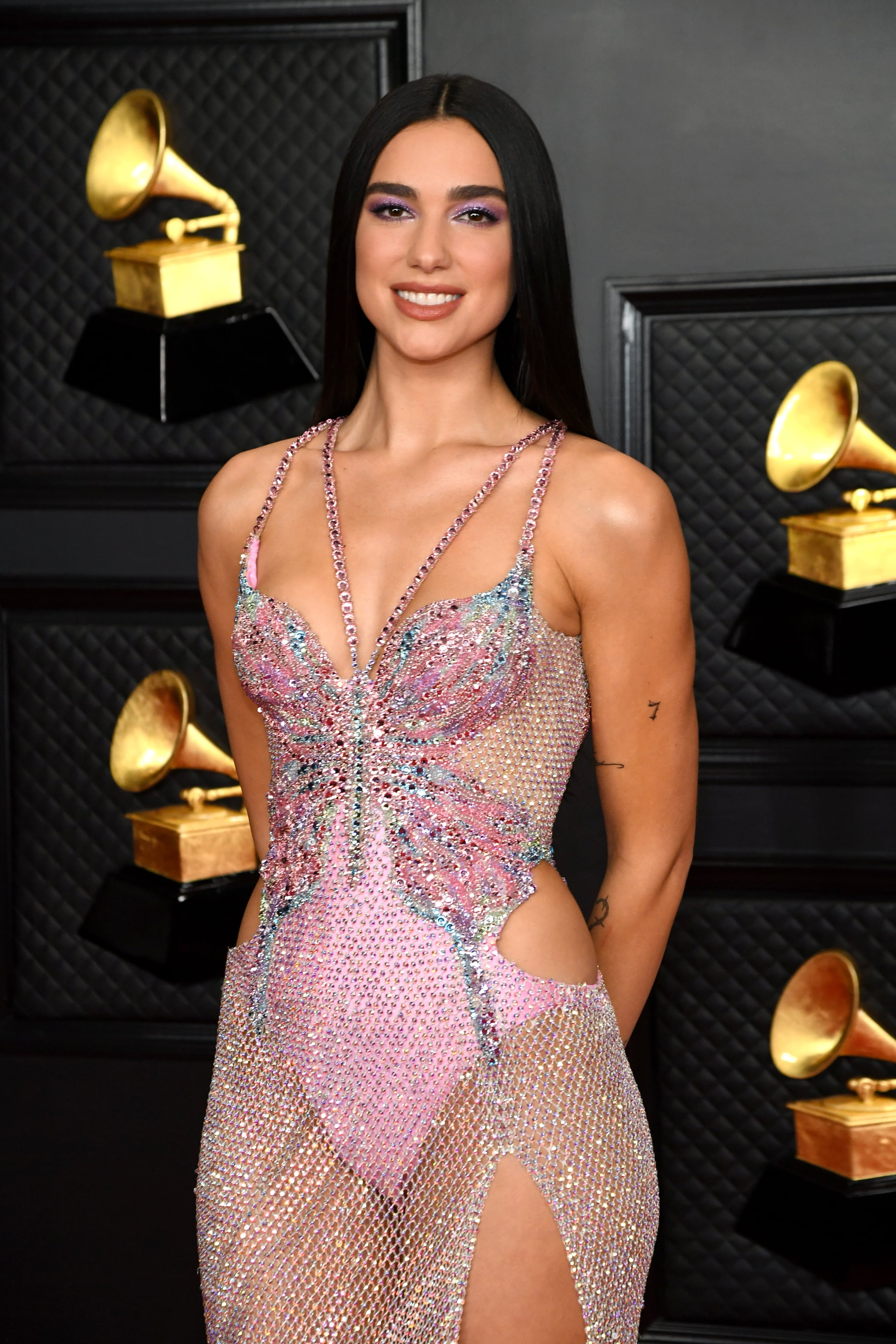 LOS ANGELES, CALIFORNIA - MARCH 14: Dua Lipa attends the 63rd Annual GRAMMY Awards at Los Angeles Convention Center on March 14, 2021 in Los Angeles, California. (Photo by Kevin Mazur/Getty Images for The Recording Academy )