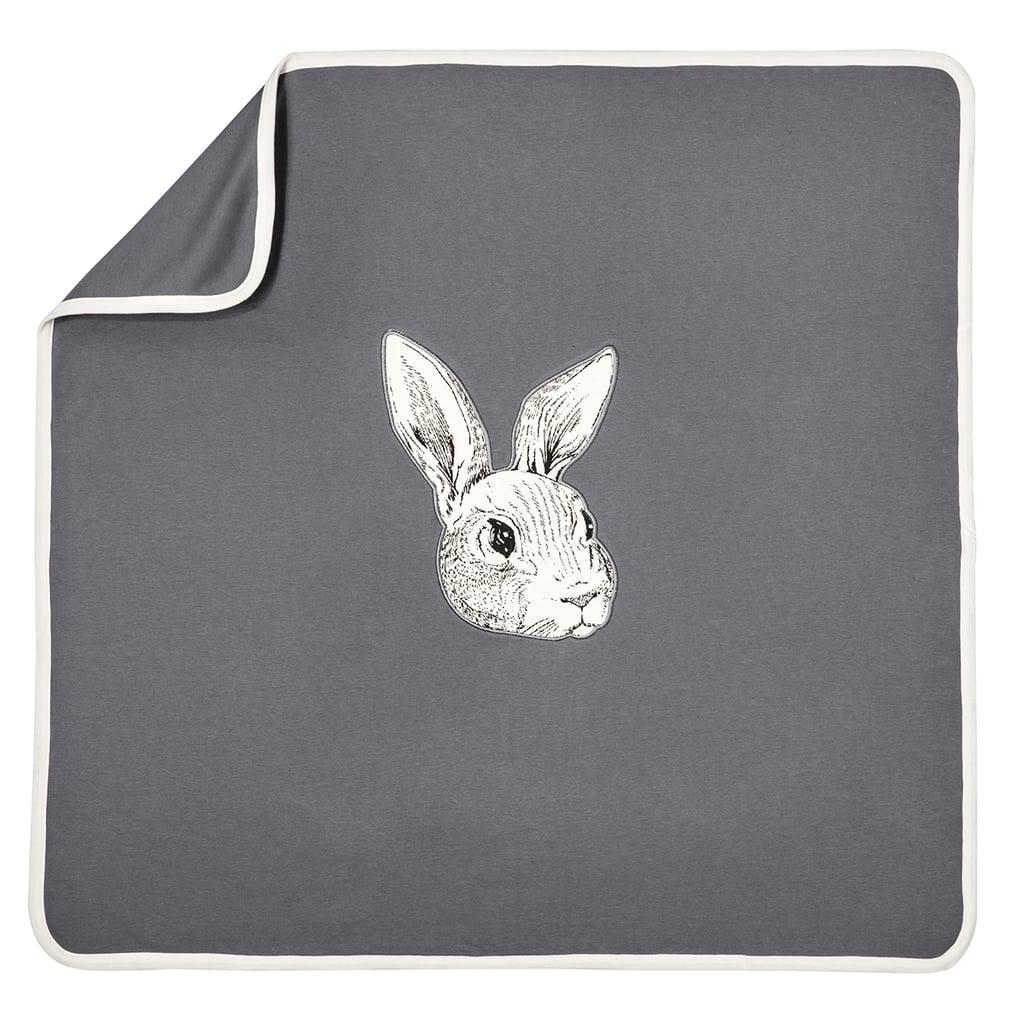 Baby Dark Grey Knit Bunny Blanket  ($13)