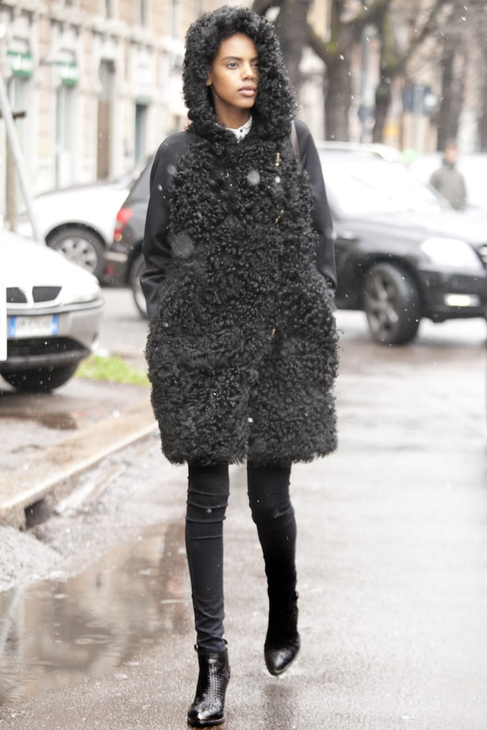 This all-black outfit was all about the texture!