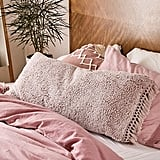 Amped Fleece Fringed Body Pillow
