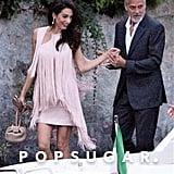 Amal Clooney Pink Fringe Dress