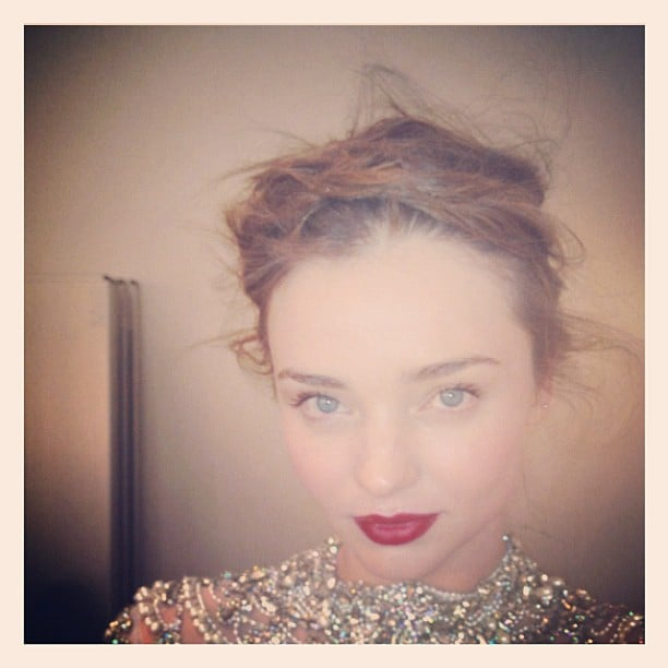 Miranda Kerr shared one of her hair and makeup looks with fans. Source: Instagram user mirandakerrverified