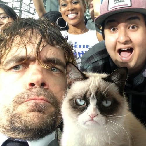 Peter Dinklage Grumpy Cat Selfie