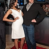 Zoe Saldana and Chris Pratt goofed around at the NY Stock Exchange on Tuesday morning.