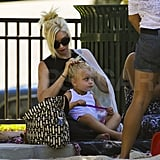 Gwen Stefani helped Zuma Rossdale with his hair.