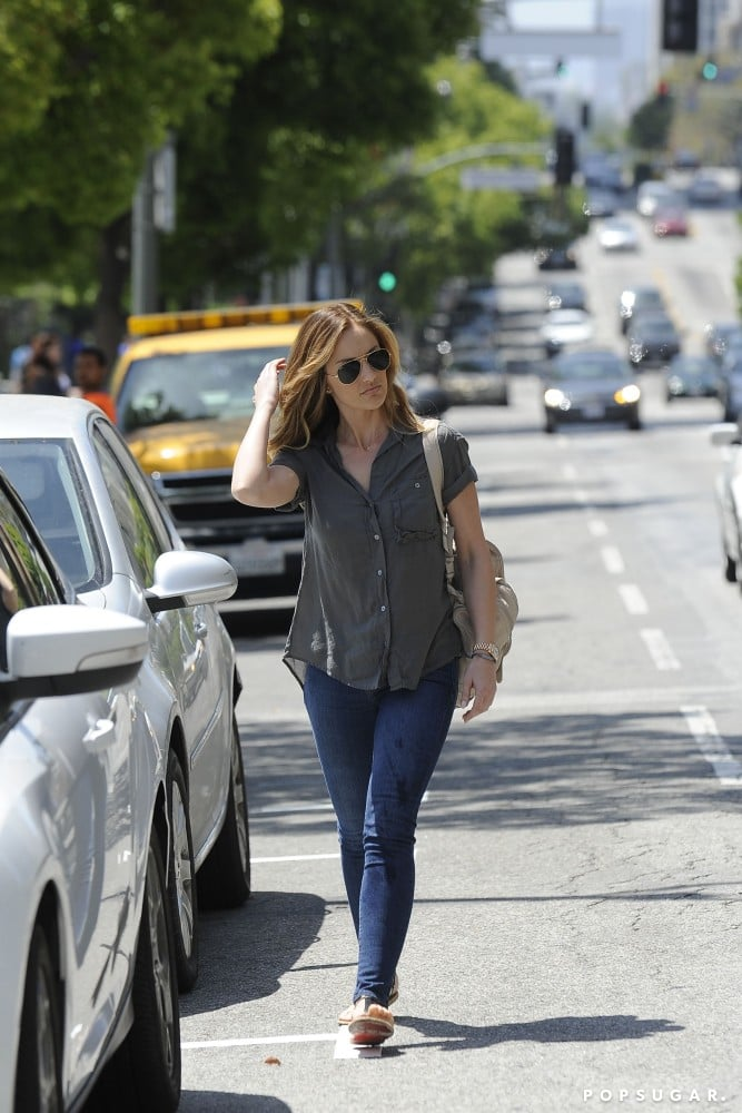 Minka Kelly flipped her new hairstyle while walking in LA on Monday.