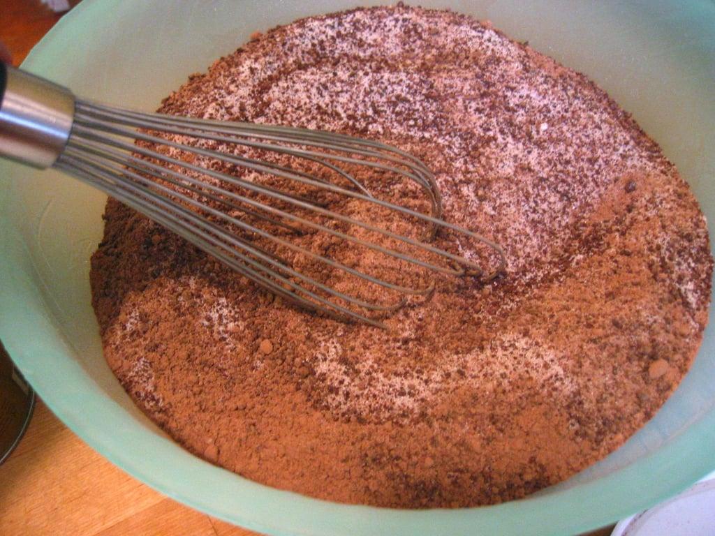 Add Dutch process cocoa powder.