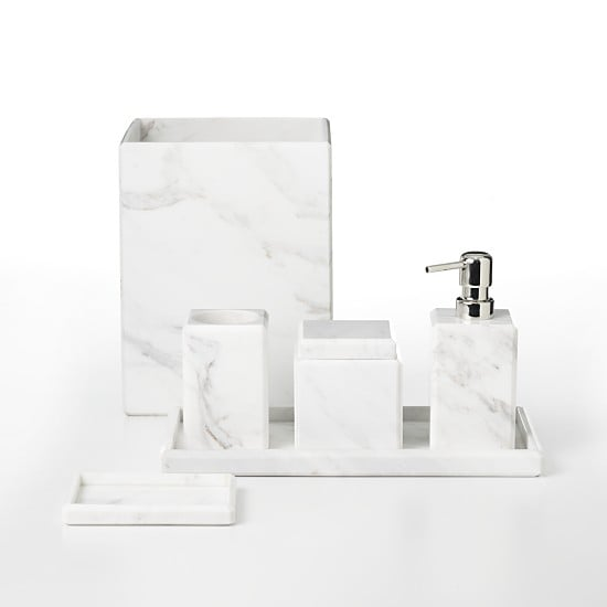 Water Works Waterworks Studio White Marble Tray