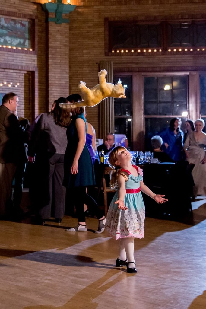 She didn't mind that her stuffed cat was her only dance partner; he was the easiest to lift in her Dirty Dancing routine.