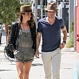 The pair went for a walk on a sunny LA day in September 2014.