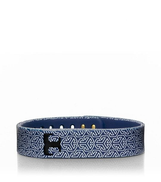 Tory Burch For Fitbit Silicone Navy Printed Bracelet ($38)