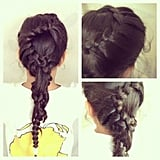 This braid is as pretty as it is intricate.  Source: Instagram user glam_royalty