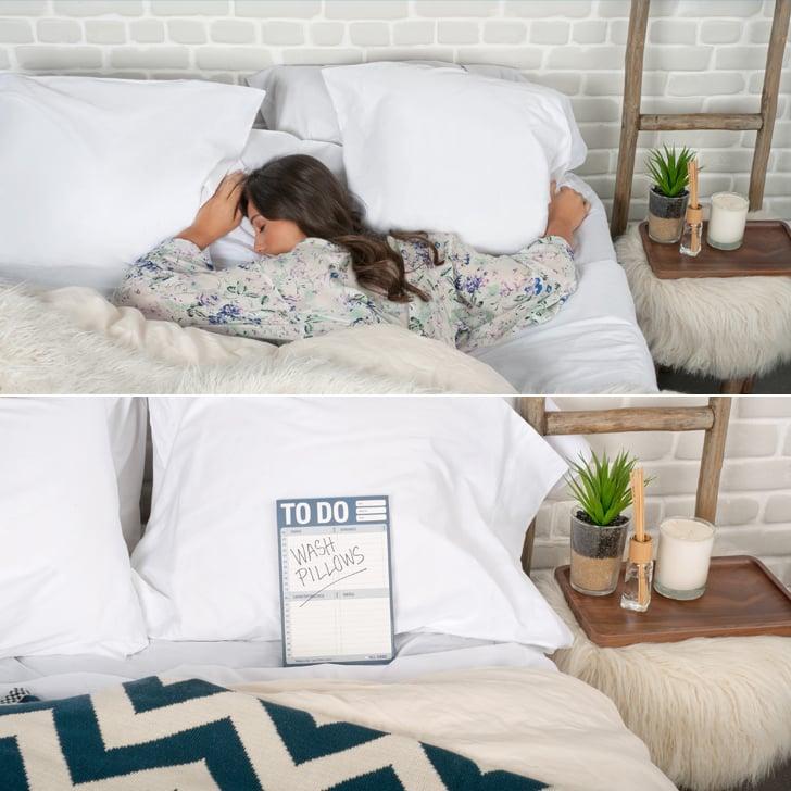Sleeping on a dirty pillowcase