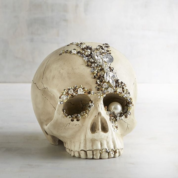Pier 1 Imports Bejeweled Skull Halloween Decor