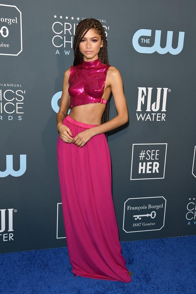 Zendaya's Pink Outfit at the 2020 Critics' Choice Awards