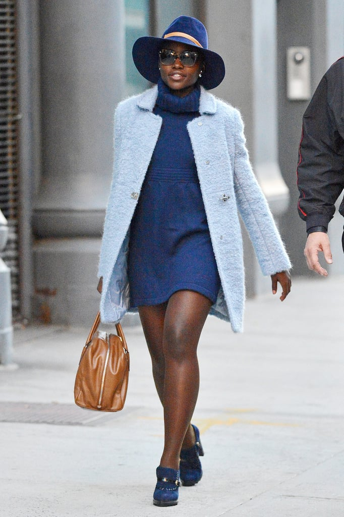 Lupita Nyong'o Wears All Blue in New York City | POPSUGAR ...