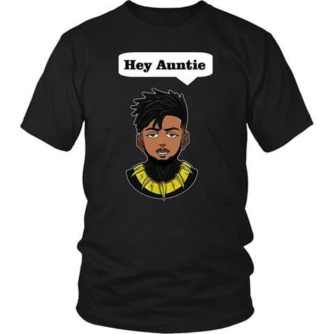 """Hey Auntie"" Killmonger T-Shirt"