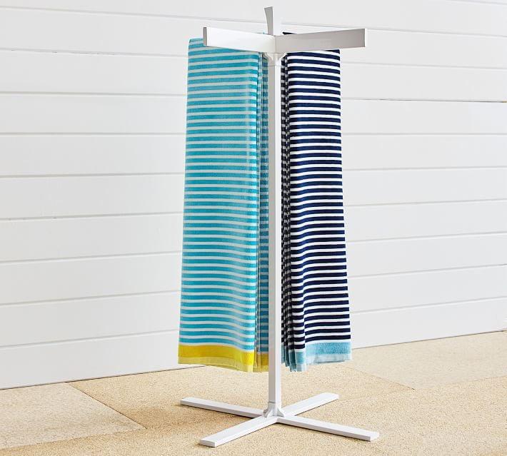Malibu Pool Storage Towel Stand