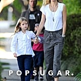 Gwyneth Paltrow held Apple's hand.