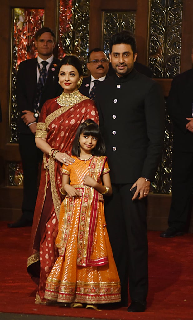Aishwarya Rai Bachchan Also Showed Up Wearing A Red Sari Isha