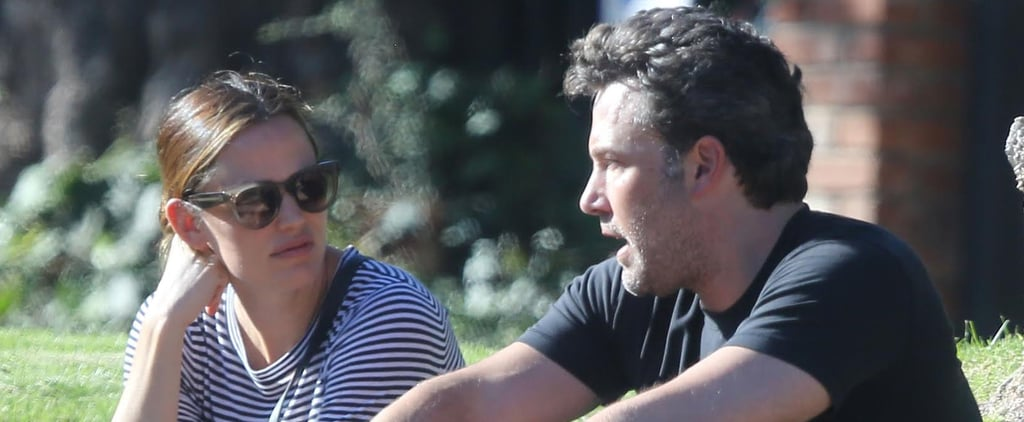 Ben Affleck and Jennifer Garner Reunite to Take Their Kids to a Neighborhood Block Party