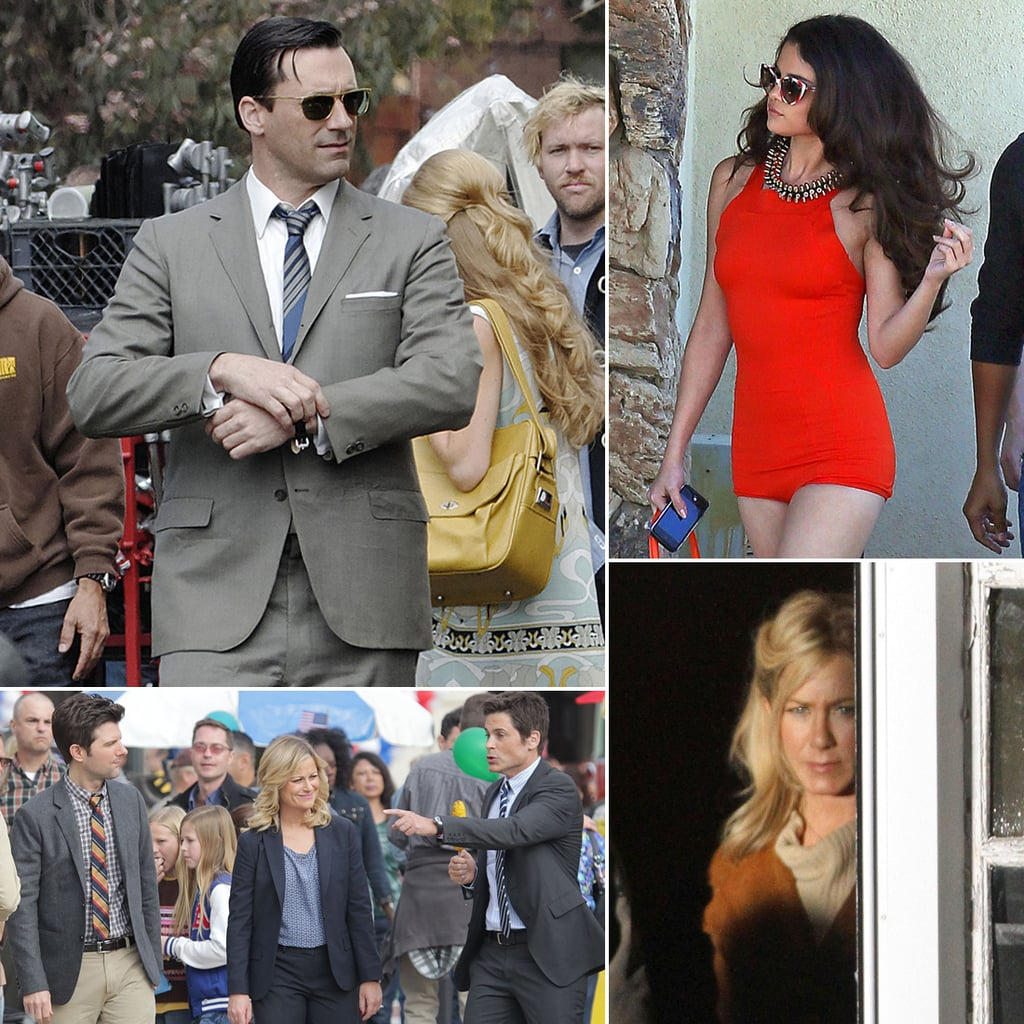 Jennifer Aniston, Jon Hamm, Amy Poehler, and More Stars on Set
