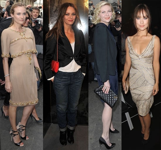 Pictures of Diane Kruger, Vanessa Paradis, Olivia Wilde, and Kirsten Dunst at Chanel and Armani Haute Couture Shows