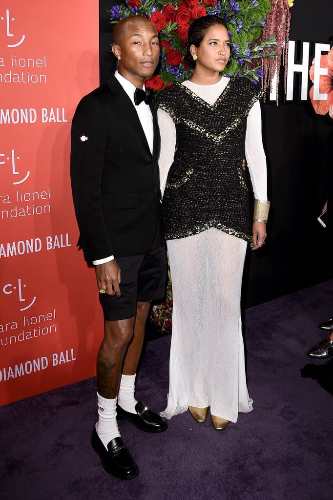 Pharrell Williams and Helen Lasichanh at the 2019 Diamond Ball