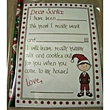 Letter to Santa and Return Letter from Santa