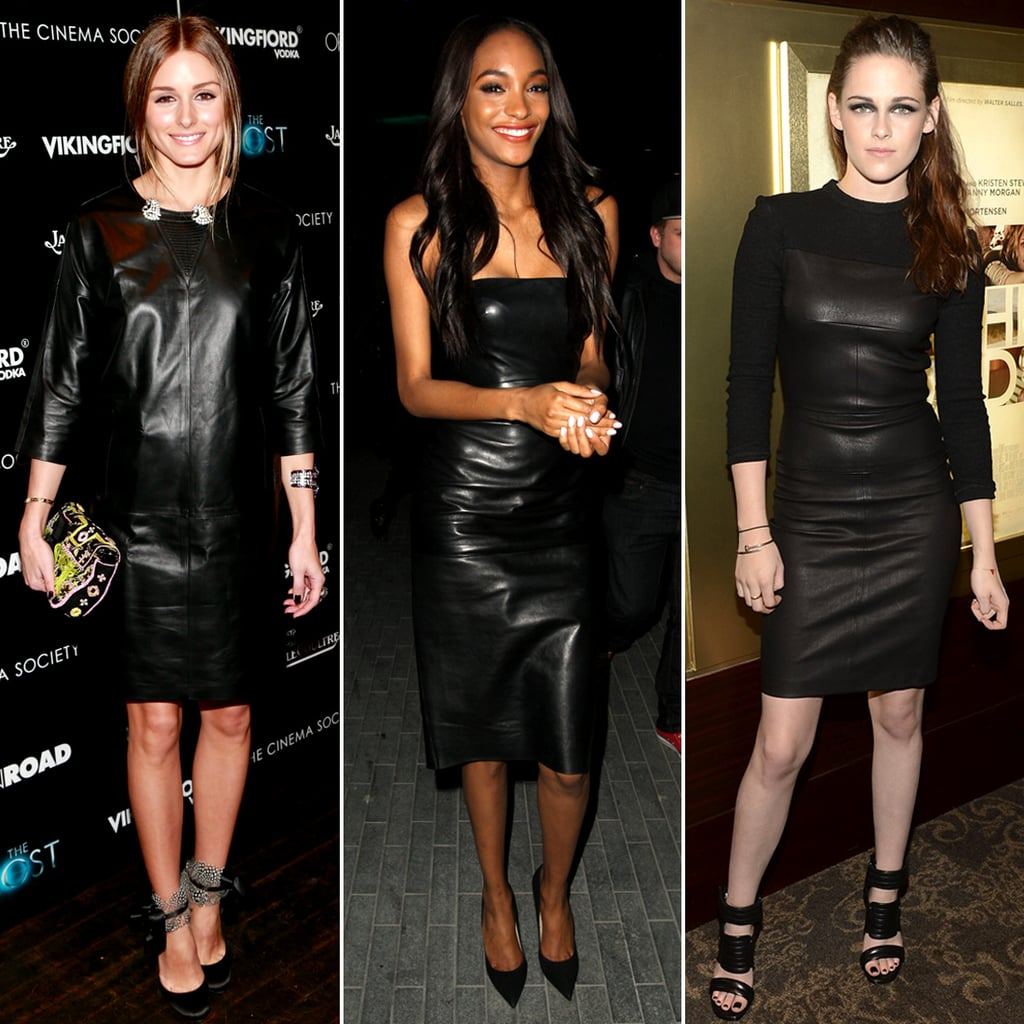 Celebrities Wearing Leather Dresses