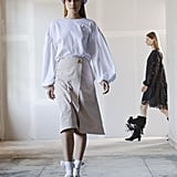 Puffy Sleeves on the Adam Lippes Runway at New York Fashion Week