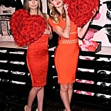 Candice Swanepoel and Lily Aldridge got together for a Valentine's Day event at Victoria's Secret in NYC.