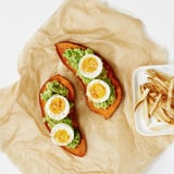 Sweet  Potato Toast With Avocado and Egg Recipe