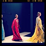 The saturated colors and flowing silhouettes at Naeem Kahn took our breath away.