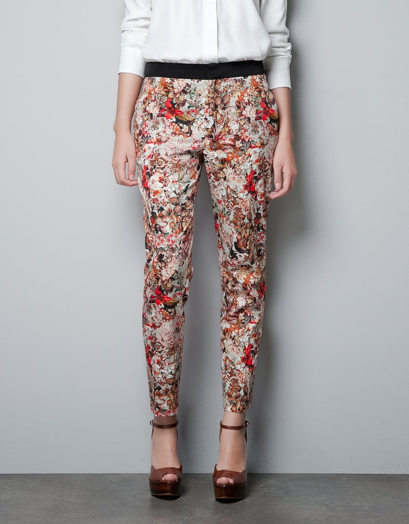 These abstract-printed trousers are so art-house cool, we're pretty sure we're going to find a gallery opening to wear these to. Zara Printed Trousers With Contrasting Waist ($80)