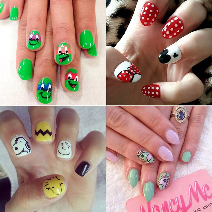Cartoon Nail Art Ideas - Cartoon Nail Art Ideas POPSUGAR Beauty